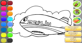 Zeppelin Coloring Book