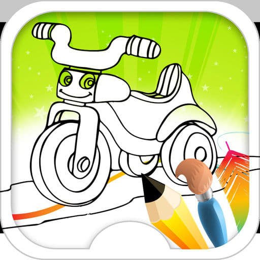 Coloring Book For Kids Bike