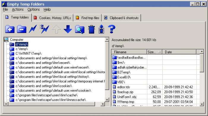 Empty Temp Folders