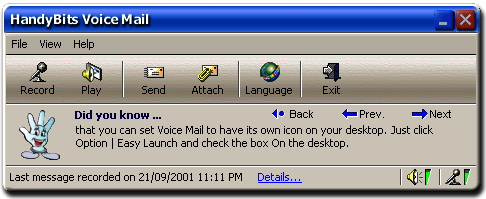 HandyBits Voice Mail