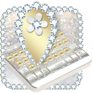 Luxury Gold & Silver Keyboard