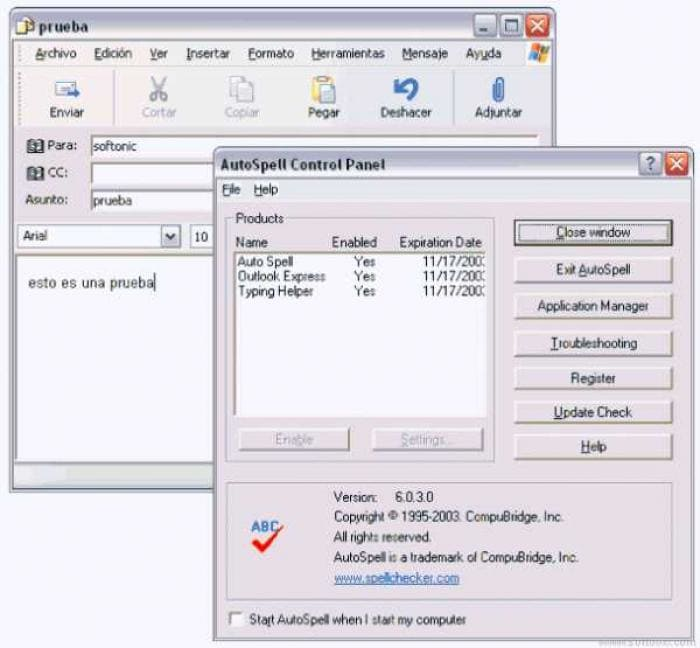 AutoSpell for Outlook Express