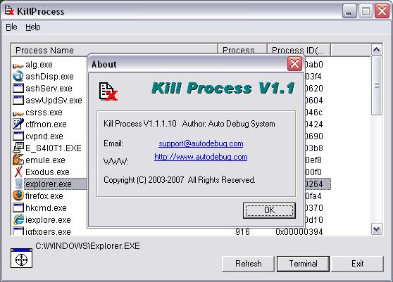 how to kill avast process