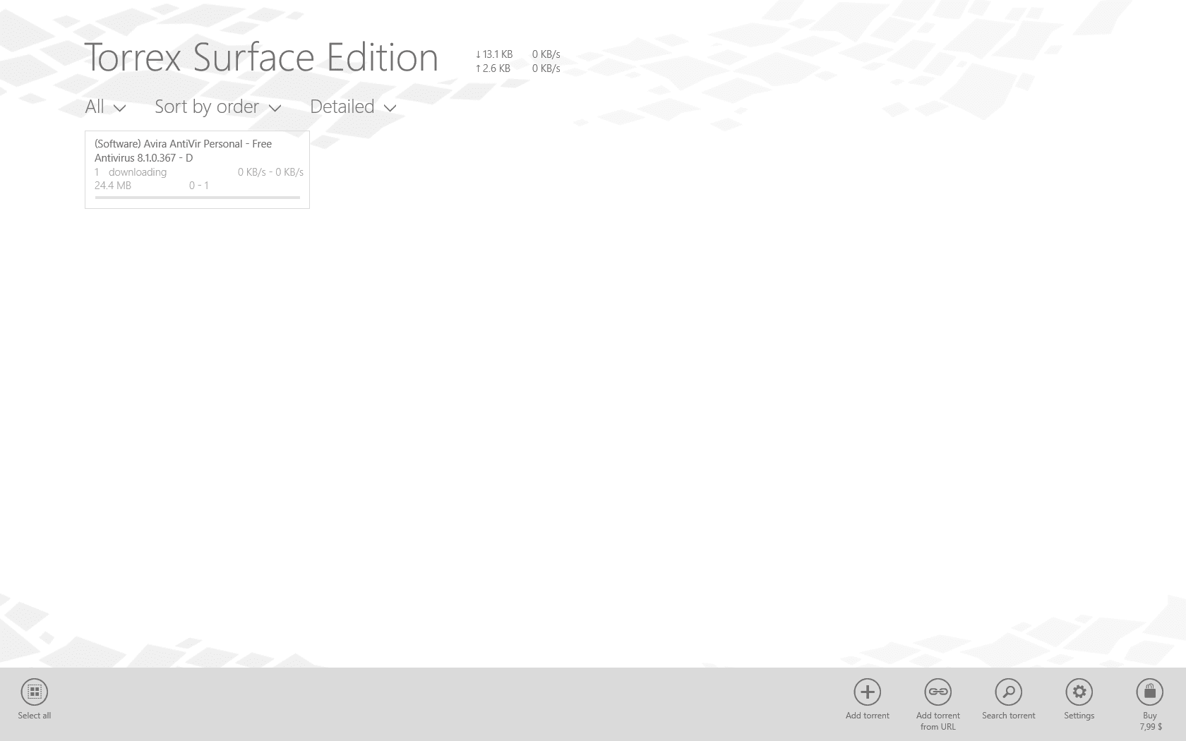 Torrex Surface Edition for Windows 10