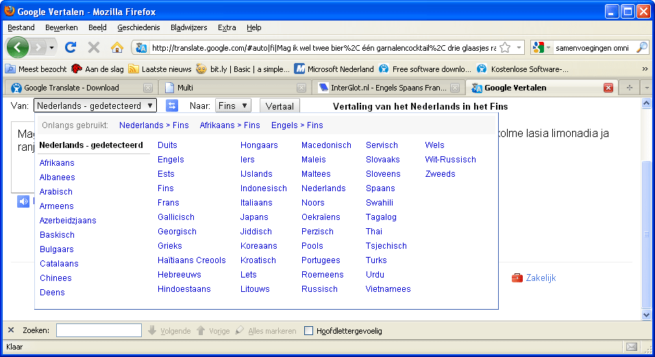 Google translate online for Ladenblok vertaling engels