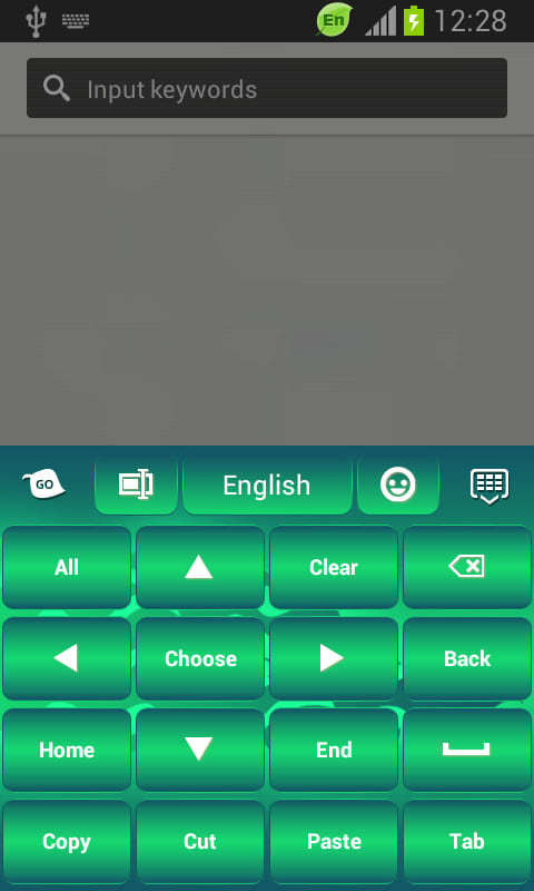 GO Keyboard Green Flame