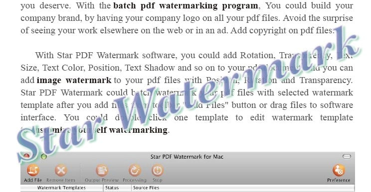 Star PDF Watermark for Mac