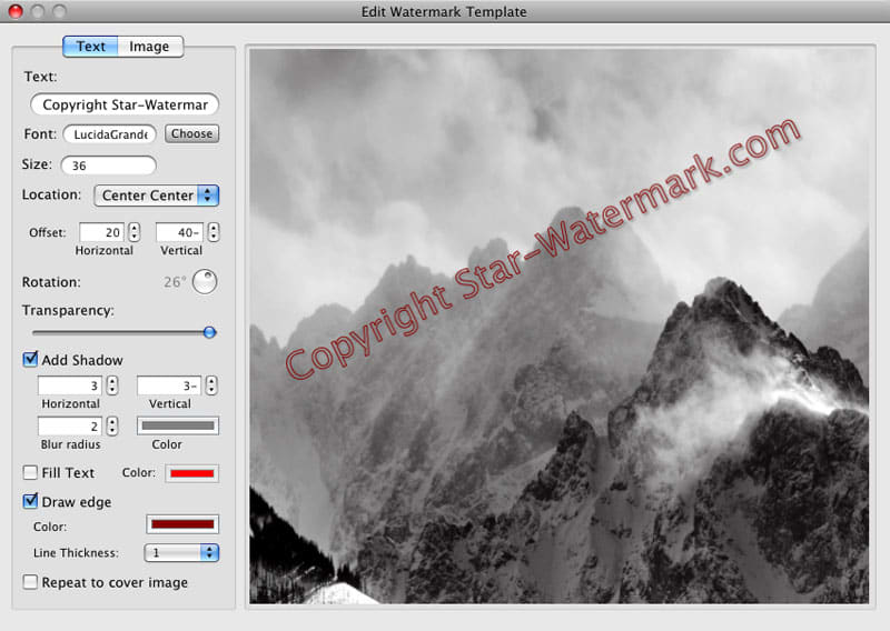 Star Watermark for Mac