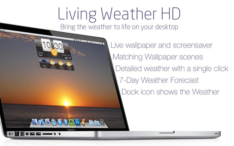 Living Weather HD free desktop wallpaper and Screensaver