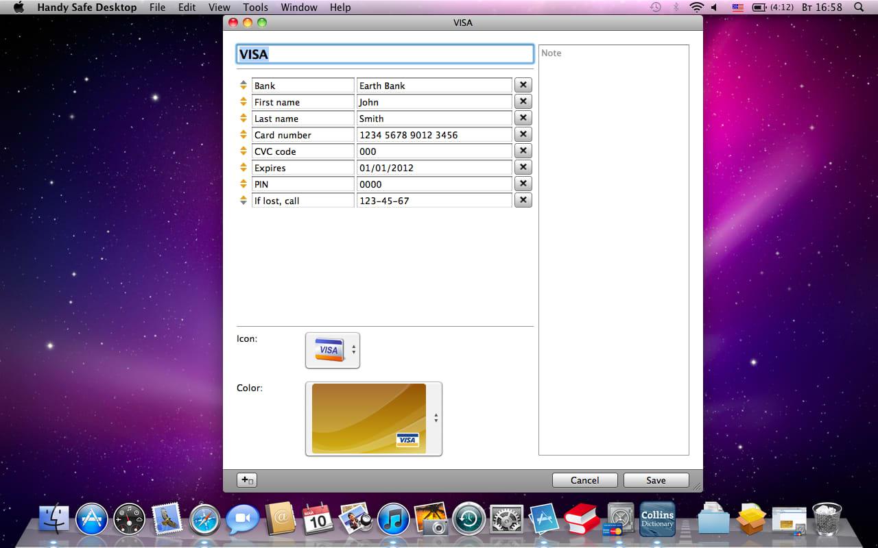 Handy Safe Desktop for Mac OS