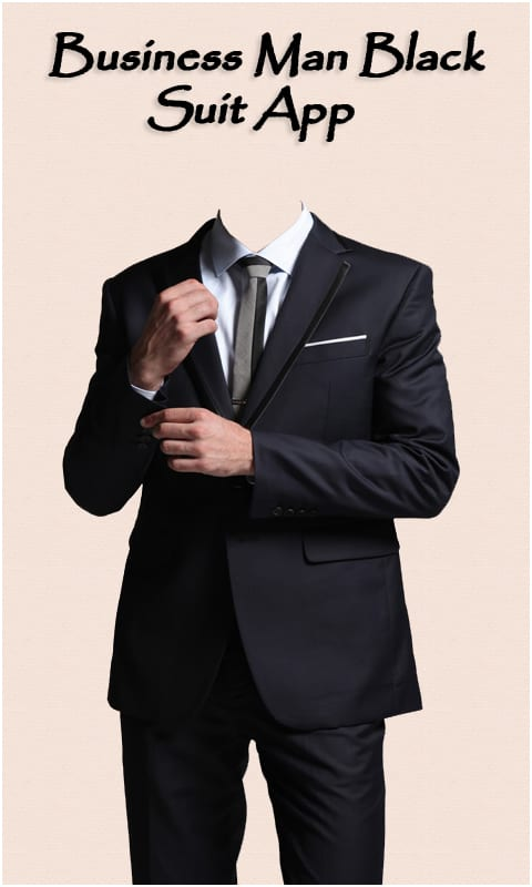 Business Man Black Suit App