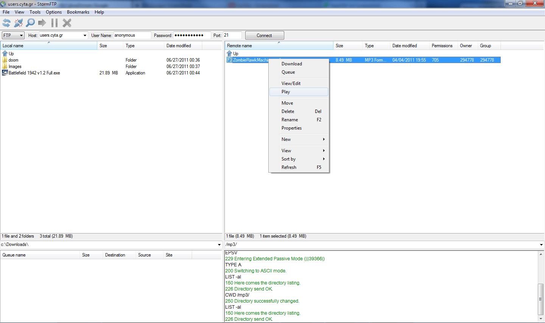 StormFTP