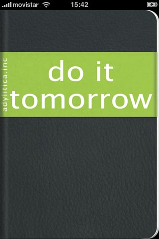 Do it (Tomorrow)