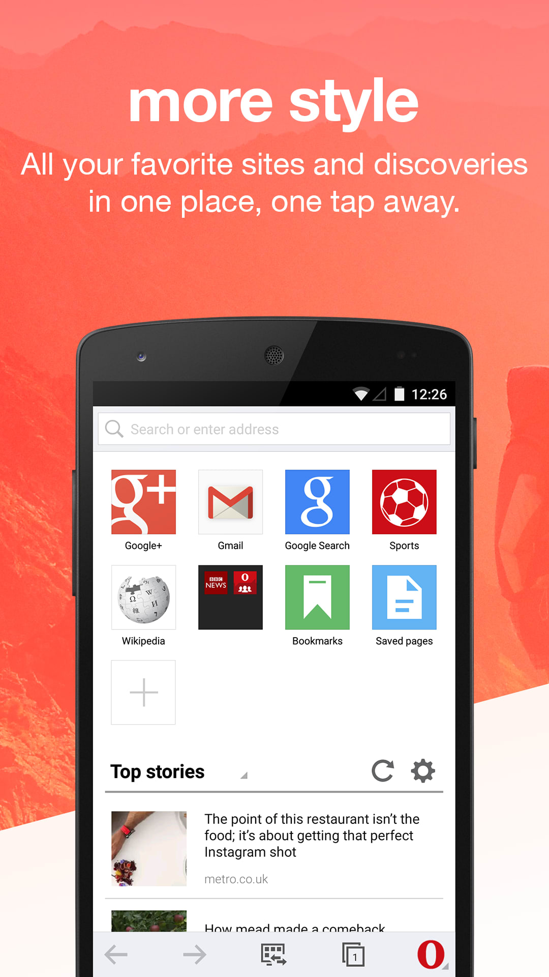 opera mini for android download