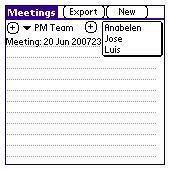 Meeting log