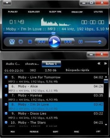 AIMP WMP 12 Windows 7