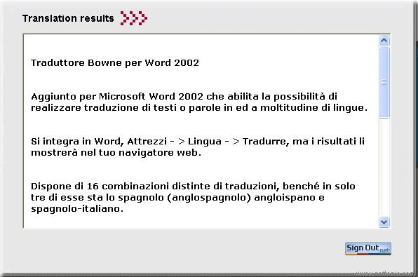 Traductor Bowne para Word 2002