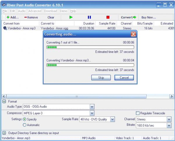 River Past Audio Converter