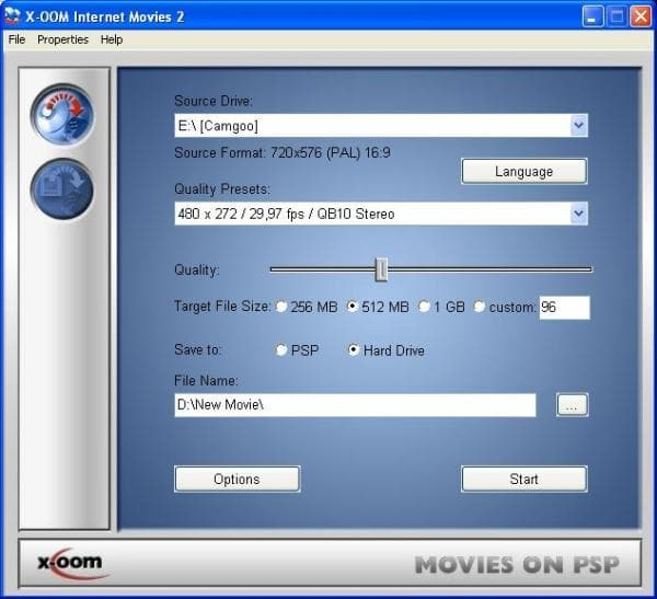 X-OOM Movies on PSP