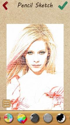 croquis de crayon caméra - retouche photo collage pour windows 8