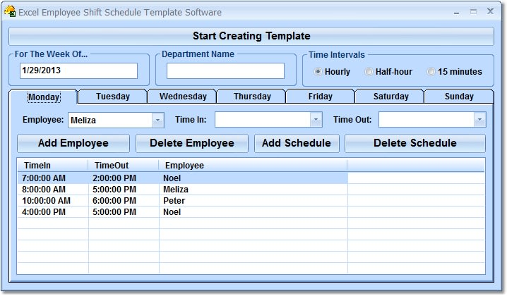 excel employee shift schedule template software download. Black Bedroom Furniture Sets. Home Design Ideas