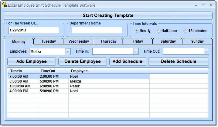 create employee schedule in excel