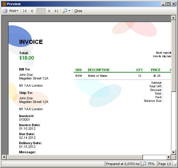 Cretica Invoice Free Edition