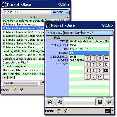 Pocket xBase
