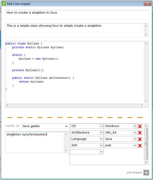 Snip2Code Plugin for Eclipse