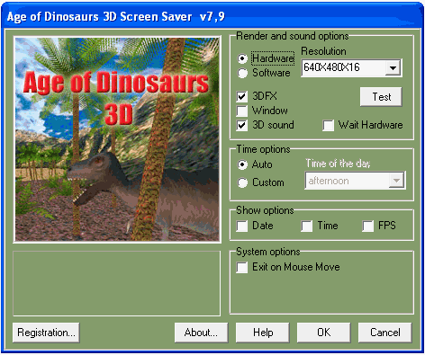Age of Dinosaurs 3D ScreenSaver