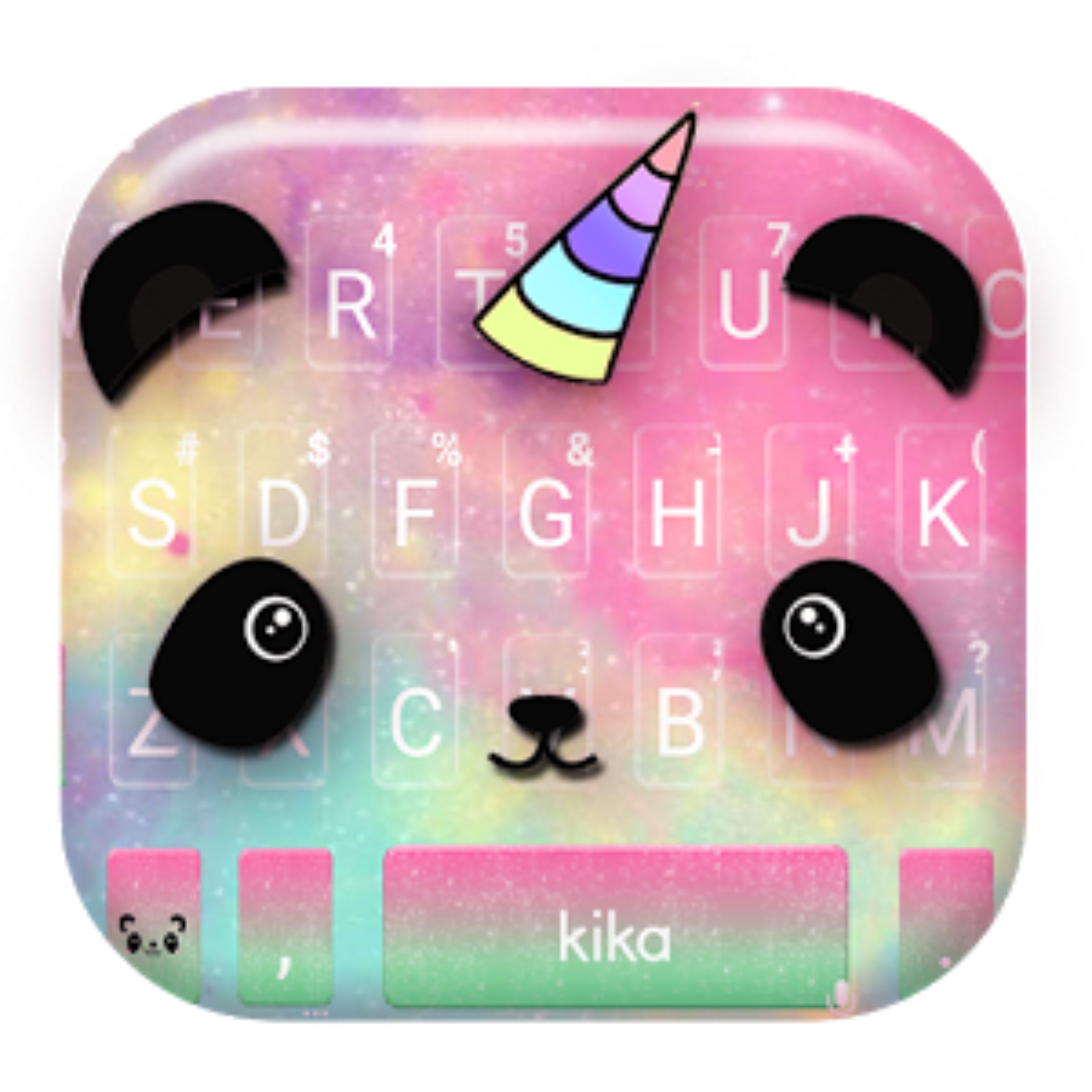Cartoon Unicorn Panda Keyboard Theme