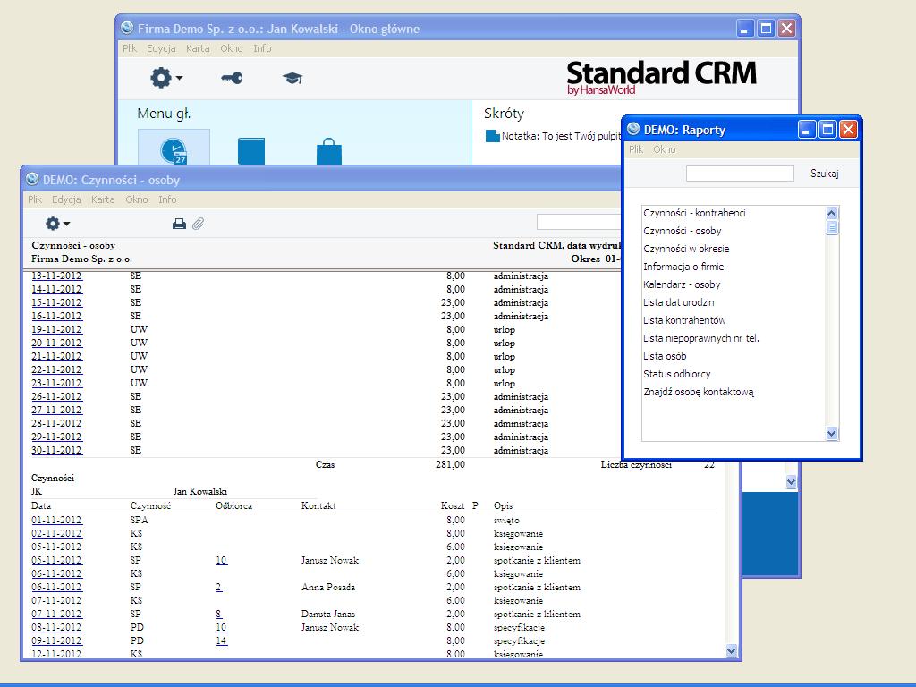 Standard CRM POL