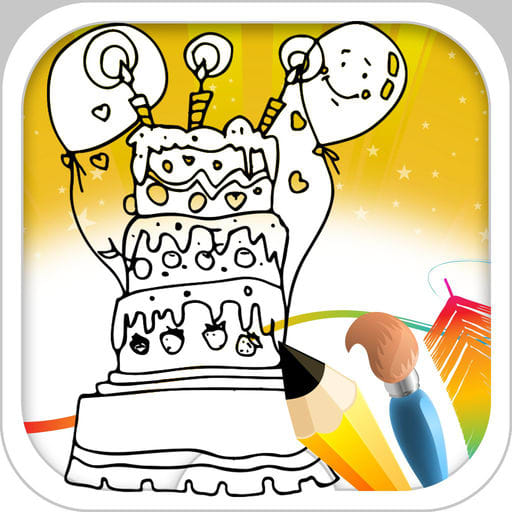 Cake Coloring Book