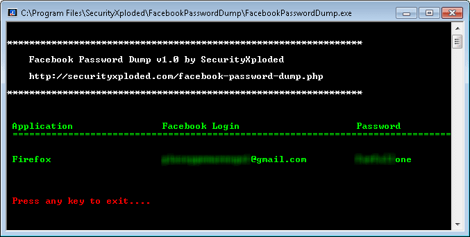 Facebook Password Dump