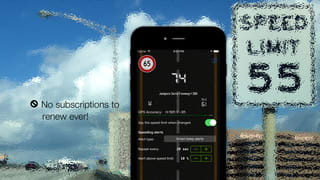 Live speed limit alerts - avoid police traps and speeding tickets