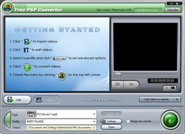 Leawo PSP Converter