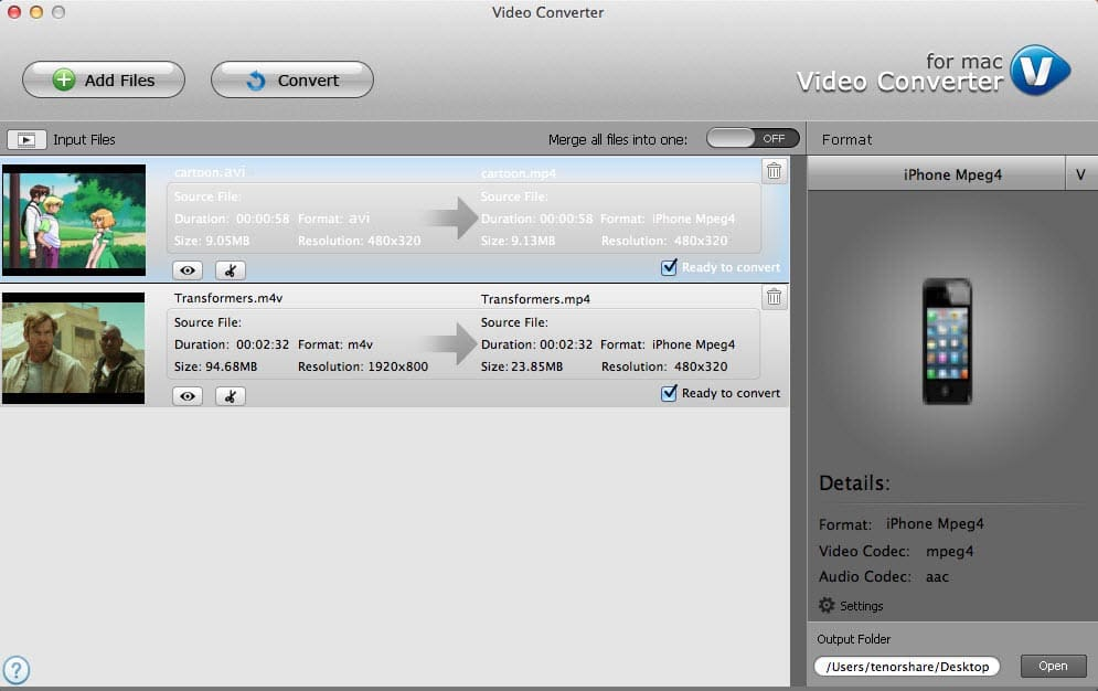 Video Converter pour Mac