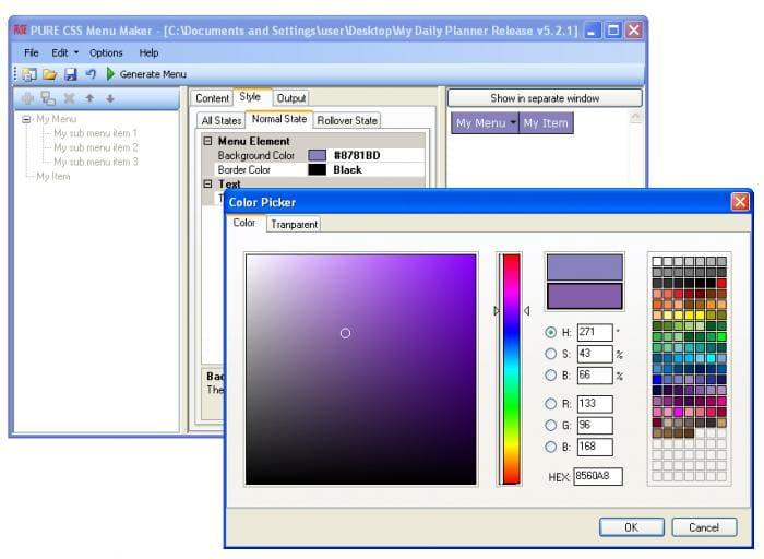 Free CSS Menu Maker  Windows