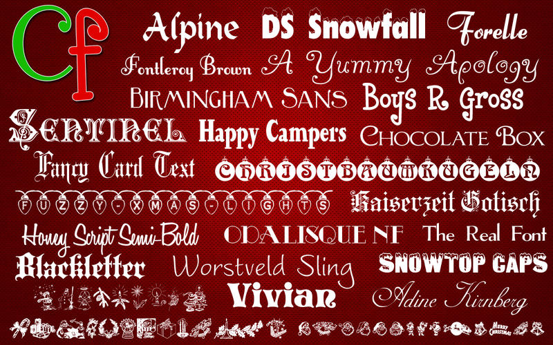 Free Fonts - Christmas Collection