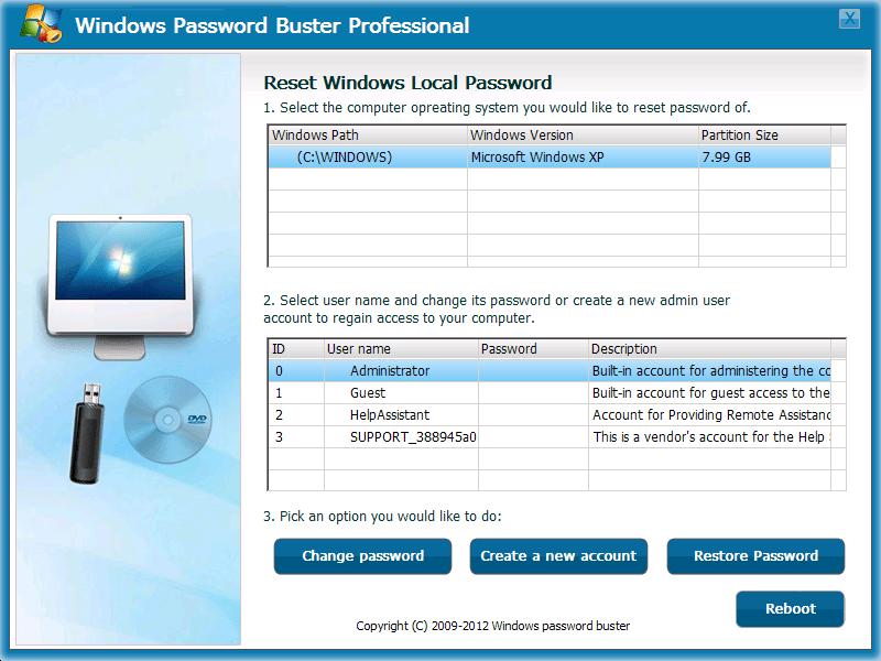 Windows Password Buster Professional