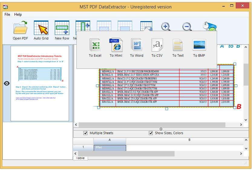 MS Pdf DataExtractor