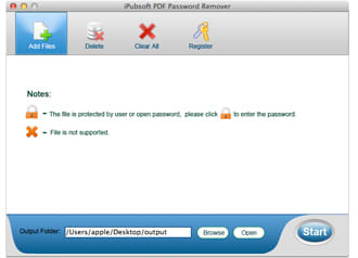 iPubsoft PDF Password Remover for Mac