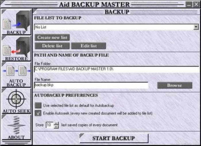 Aid Backup Master