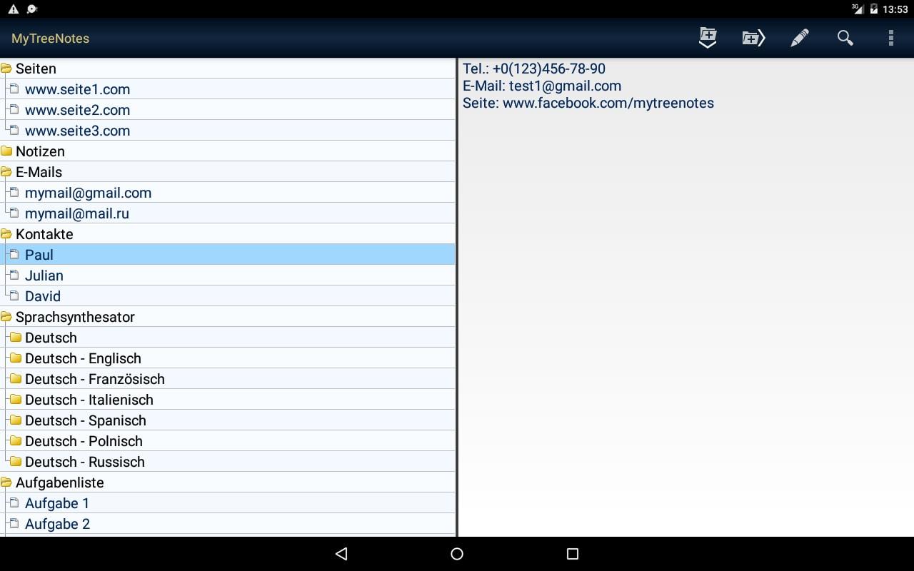 MyTreeNotes - Notepad