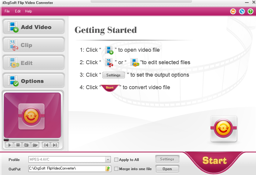 iOrgSoft Flip Video Converter