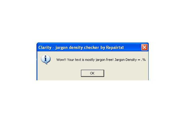 Jargon Density Checker