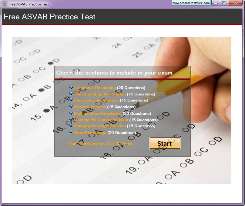 Free ASVAB Practice Test
