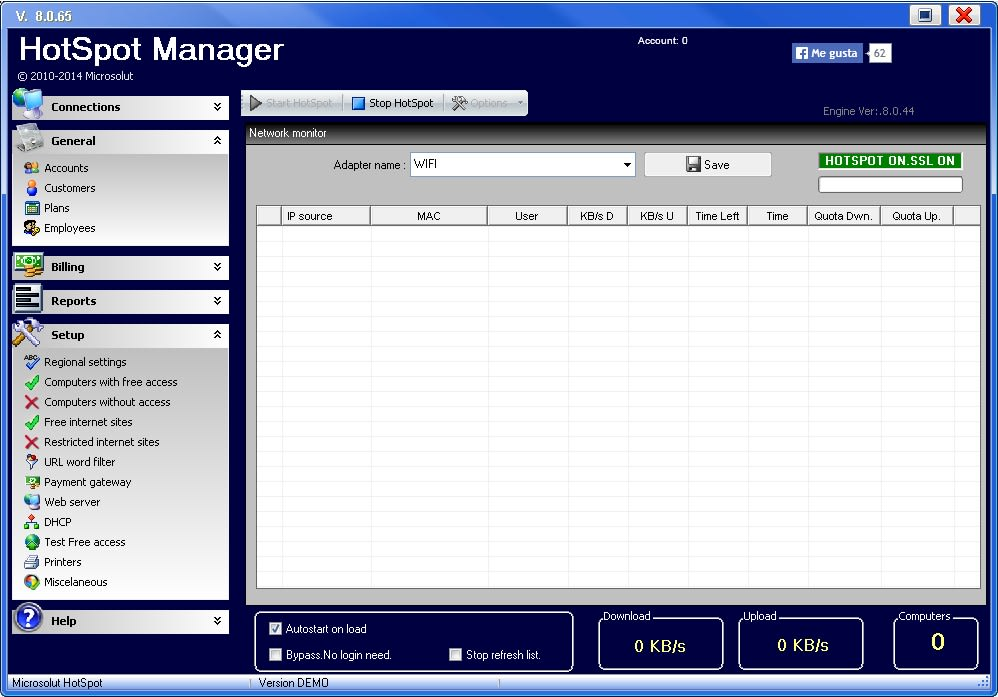 Hotspot software