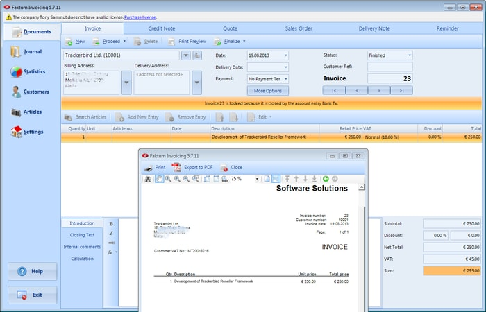 Faktum Invoicing