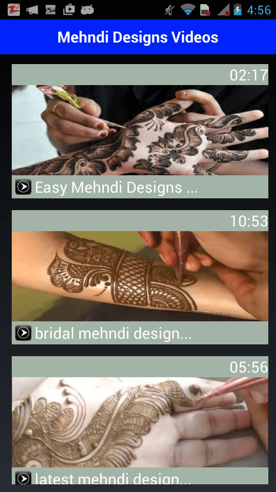 Easy Mehndi Design Videos 2016